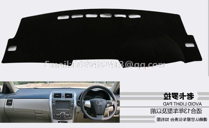 for Toyota Corolla Axio E140 E150 2007 2008 2009 2010 2011 2013 2012 dashmats car-styling accessories dashboard cover RHD