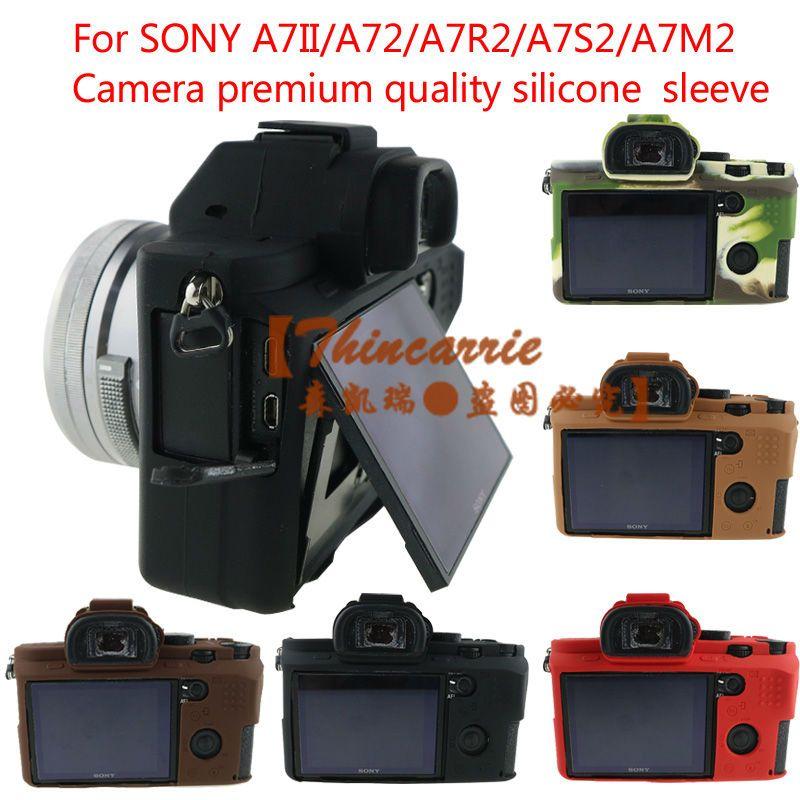 Soft Silicone Rubber Camera Protective Body Cover Case Bag Skin For Sony A7 II A7II A7R Mark 2 A7R2 ILCE-7M2 Camera