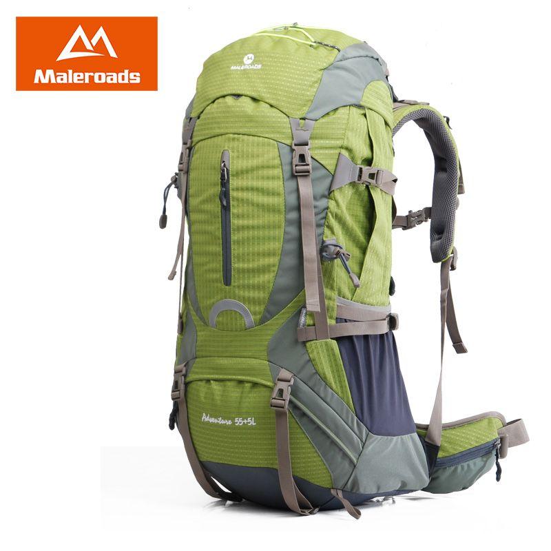 Maleroads 50L 60L Professional Camping Hiking Backpack Travel Mochilas Waterproof Outdoor Gear Climbing Bags Pack For Men Women