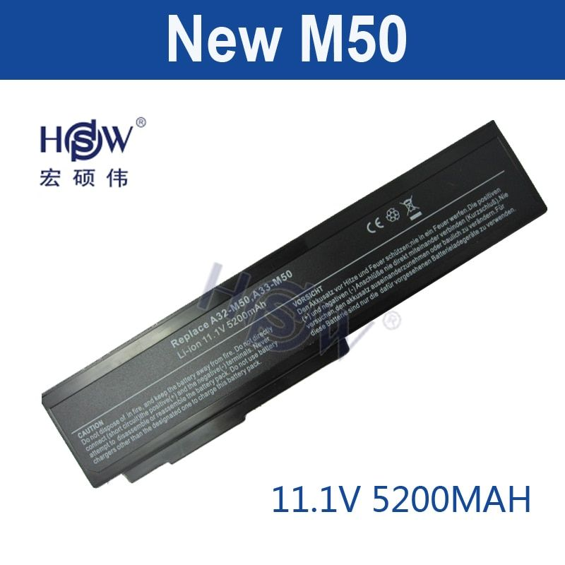 HSW 5200mah new laptop Battery For Asus M50 M50s M50VM A32-M50 A32-N61 A33-M50 N61J N61Ja N61jq N61jv N61 N53 6 cells bateria