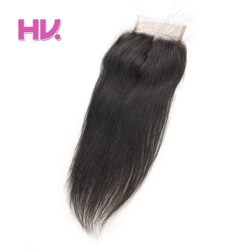 Hair Villa Remy Brazilian Straight Human Hair Lace Closure 4