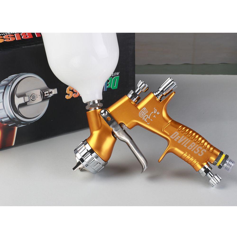 2018 New Spray Paint Gun Gti Pro LITE TE20 1.3 mm 600 ml Cup Gravity For Fine Finishing Application Forging of Aluminum Alloy