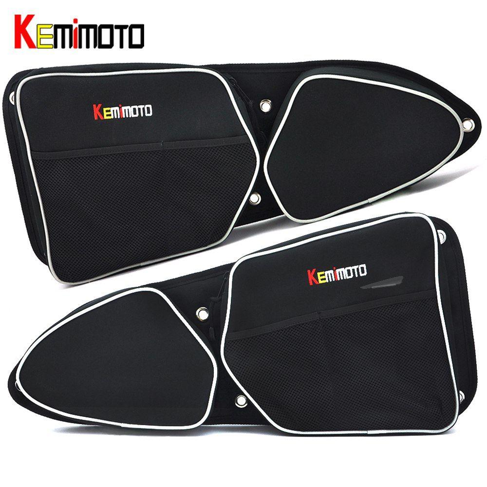 KEMiMOTO für Can-Am Kommandant 1000 4x4 für Polaris RZR XP 1000 EPS UTV Passagier Fahrer Seite tür Tasche Seite Lagerung Tasche Knie Pad