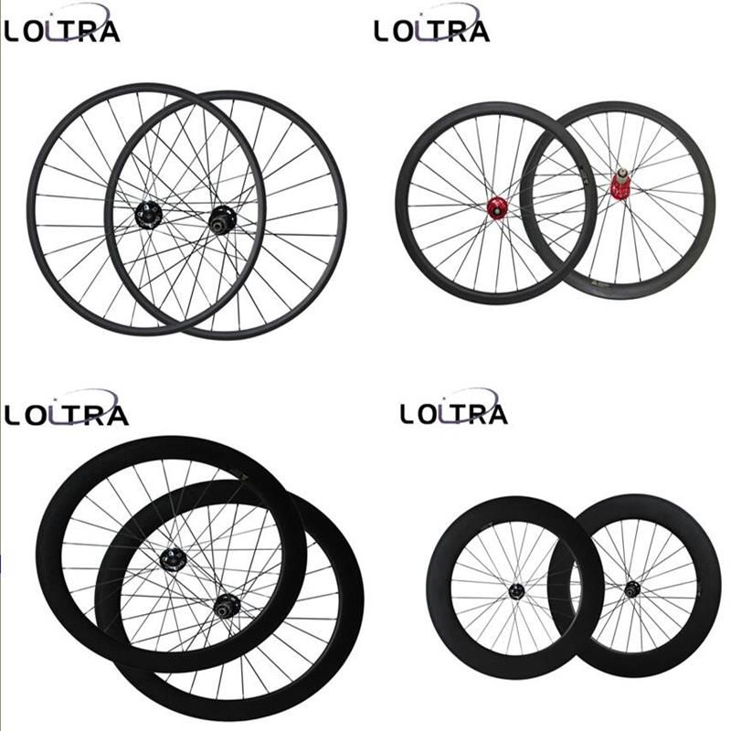 23mm Width Disc brake 6 Bolt carbon Cyclocross wheels 38/50/60/88mm bicycle wheelset 12x100mm, 15x100mm /12x142mm Thru Axle