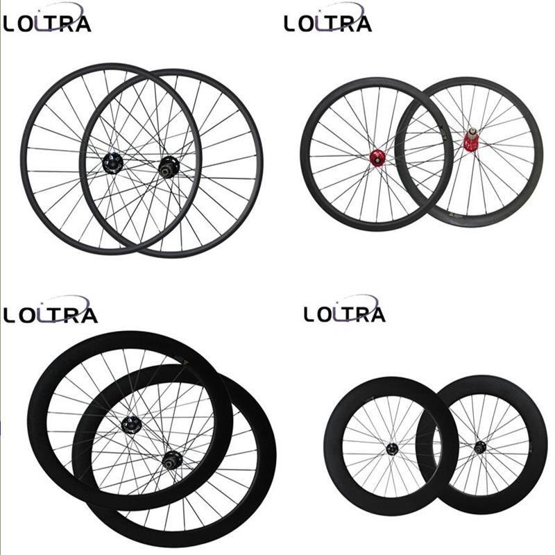 23mm Width Disc brake 6 Bolt carbon Cyclocross wheels 38/50/60/88mm bicycle wheelset 12x100mm, 15x100mm /12x142mm Thru Axle
