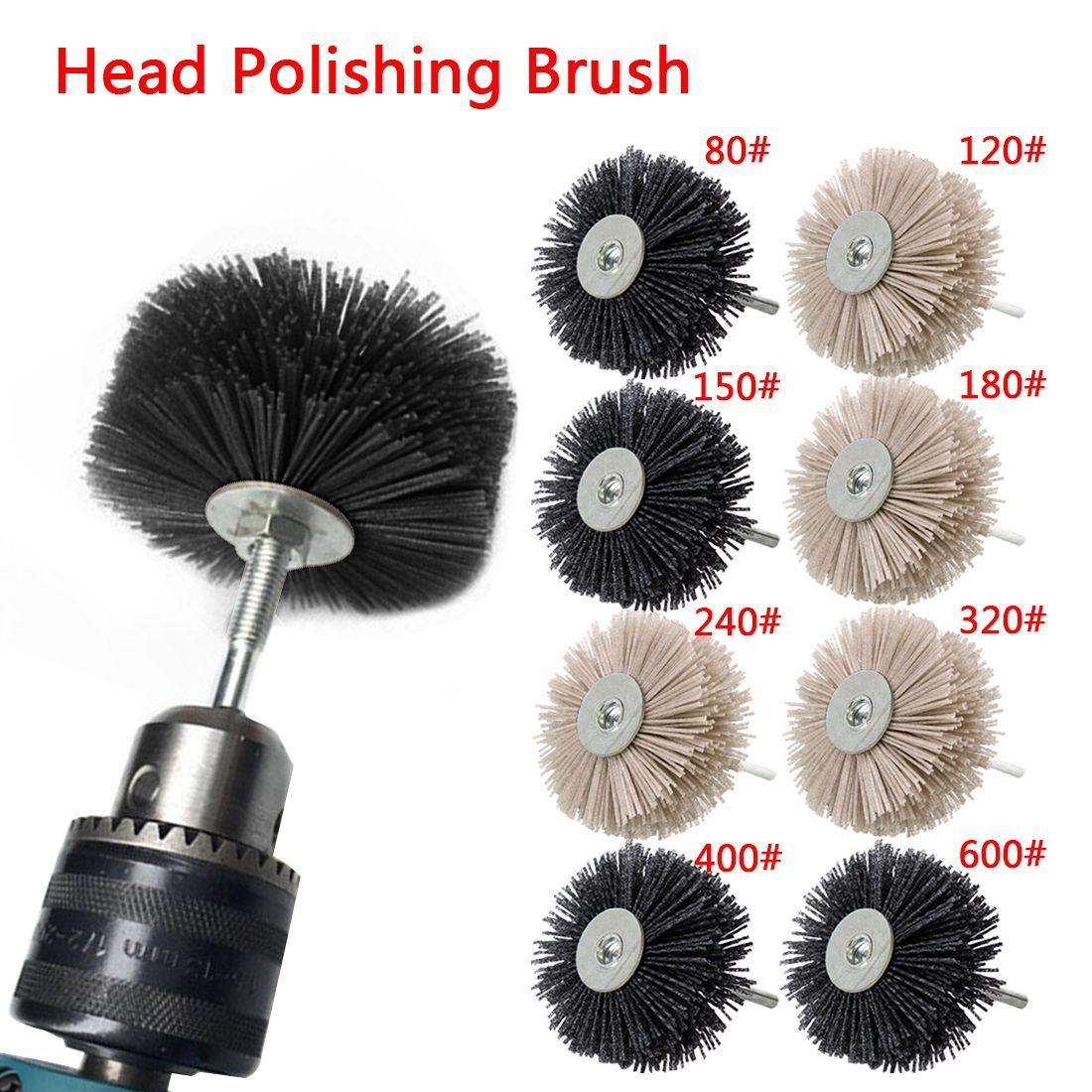 Nylon Wheel Brush 1pc Abrasive Wire Grinding Flower Head Abrasive Woodwork Polishing Brush Bench Grinder For Wood Furniture