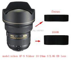Lensa Zoom dan fokus Cincin Karet/Karet Grip Perbaikan Succedaneum Untuk Nikon AF-S Nikkor 14-24mm f/2.8G ED lens