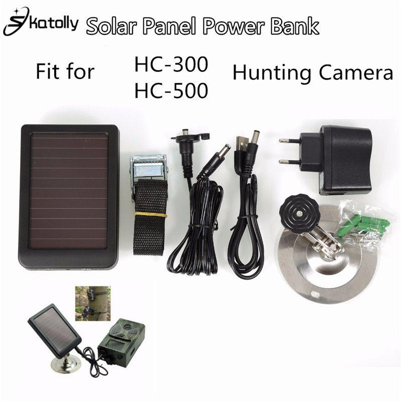 Skatolly 1500 mAh Solar Panel Ladegerät EU/Us-stecker Batterieleistungbank für SUNTEK Jagd Kameras HC300M HC500M Scouting kamera