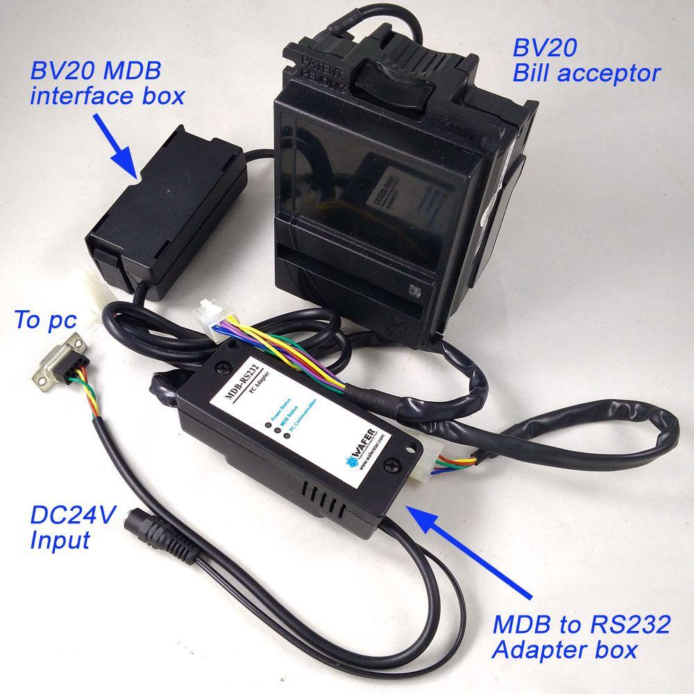 Wirtschaftlich MDB-R232 Mit BV20 scheinprüfer für MDB entwicklung kits/BV20 Banknotenprüfer plus MDB zu PC adapter