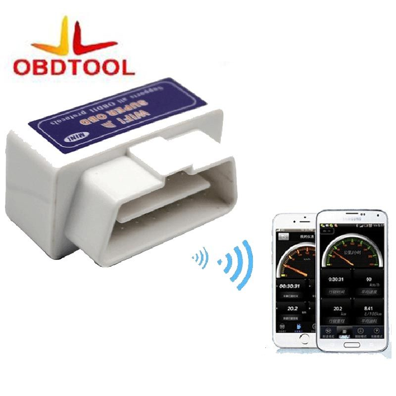 New Super Mini WIFI ELM327 ElM 327 Wi-Fi V1.5 OBD2 II Car Diagnostic Tool OBD 2 Scanner Interface Supports Android/iOS/Windows
