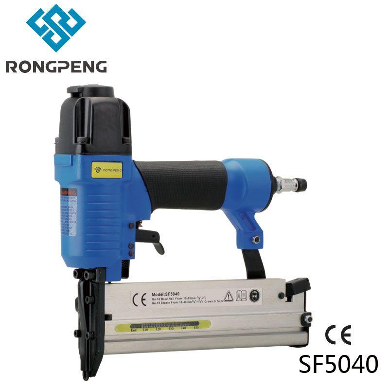 RongPeng 2 в 1 Комбинации Воздух гвоздей Степлер sf5040e 18-guage Многофункциональный плотник пневматические Брэд nailer Корона Степлер пистолет