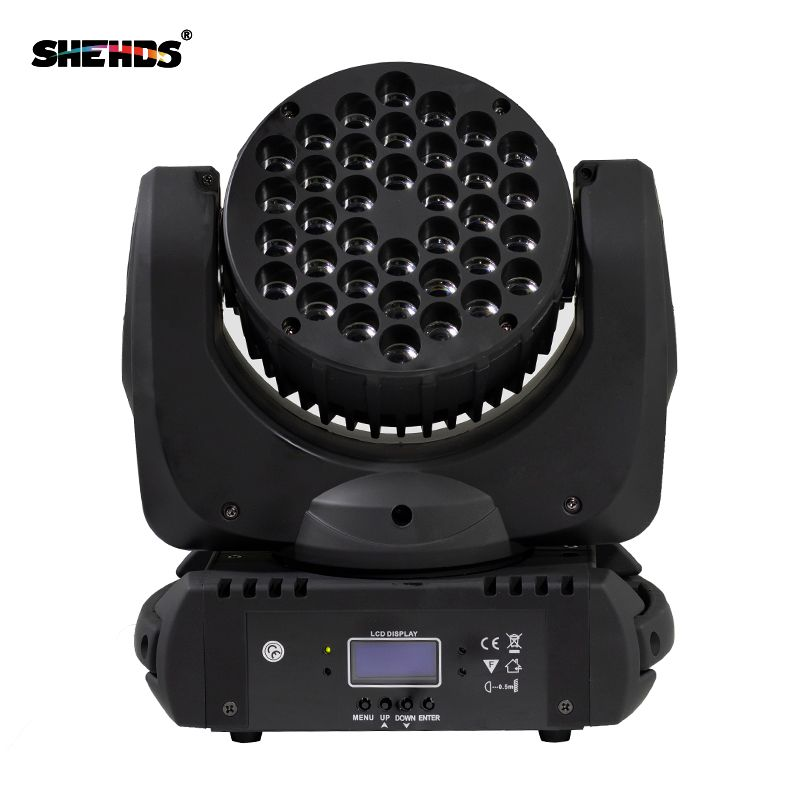 Fast Shipping LED Beam 36x3W RGBW Moving Head Lighting Professional For DMX 512 Stage Effect Disco DJ Parties Wedding Hotel