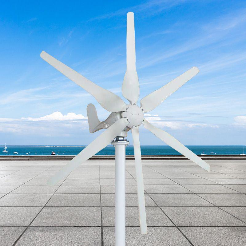 Beste Preis Wind Generator 12 V/24 V/48 V 500 Watt 6 Klingen Auto Einstellen Horizontale Wind turbinen Generator Hause Wind Power Generator