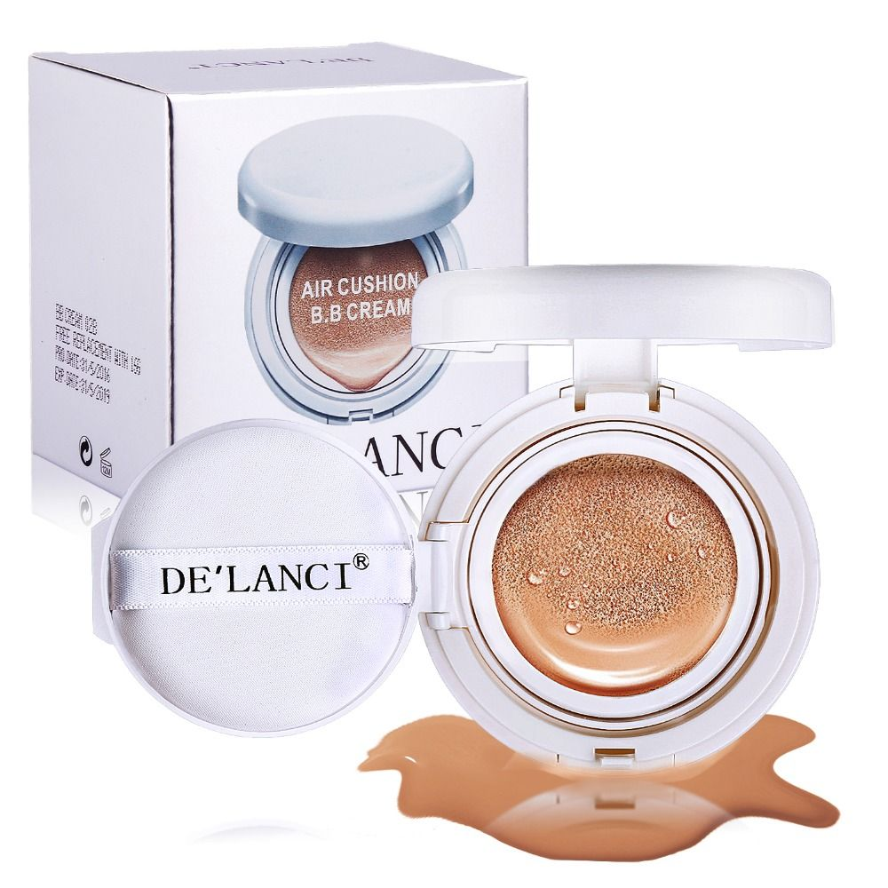 DE'LANCI Liquid Complexion Cushion Fresh Brightening Dffect High Coverage BB Cream Makeup Bases