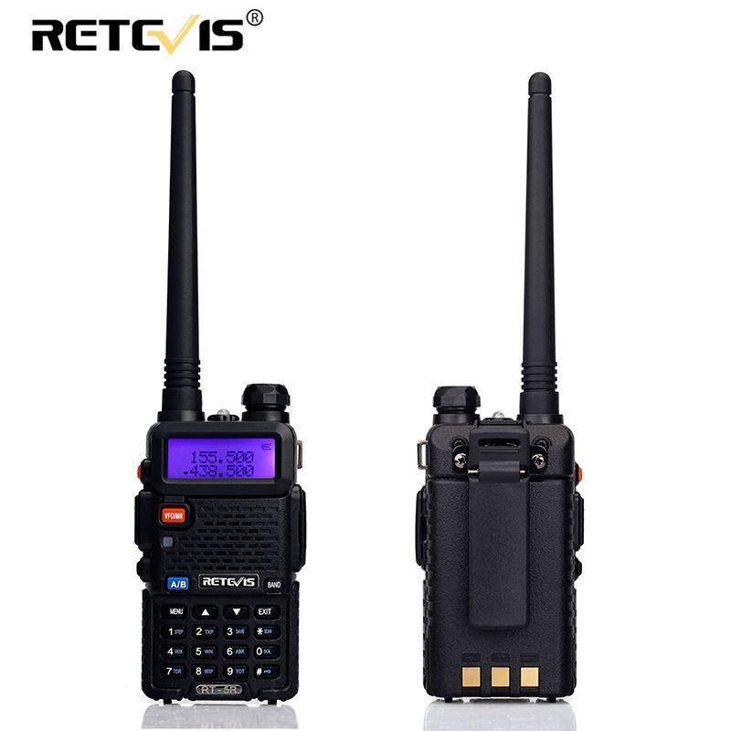 A Pair Retevis RT 5R Walkie Talkie VOX 128CH 5W UHF/VHF Ham cb Frequency Two Way Radio Communicator HF Transceiver Talkie Walkie