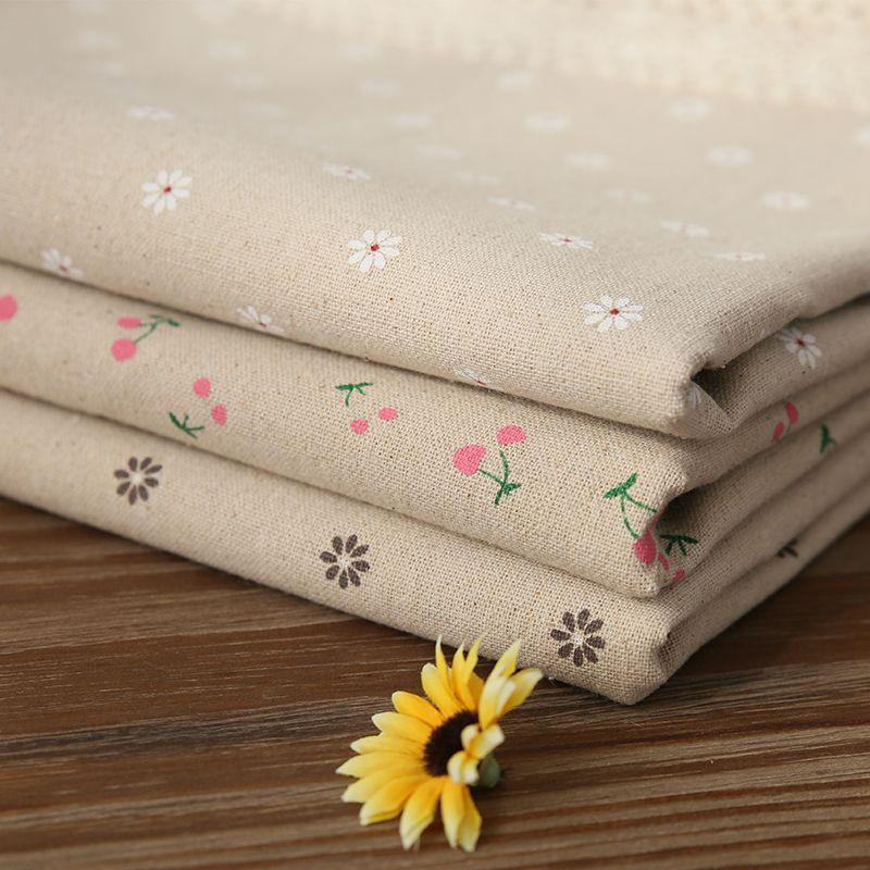 Offre spéciale pastorale coton lin nappe cerise marguerites imprimé rectangulaire Table couverture dentelle bord nappe pour mariage