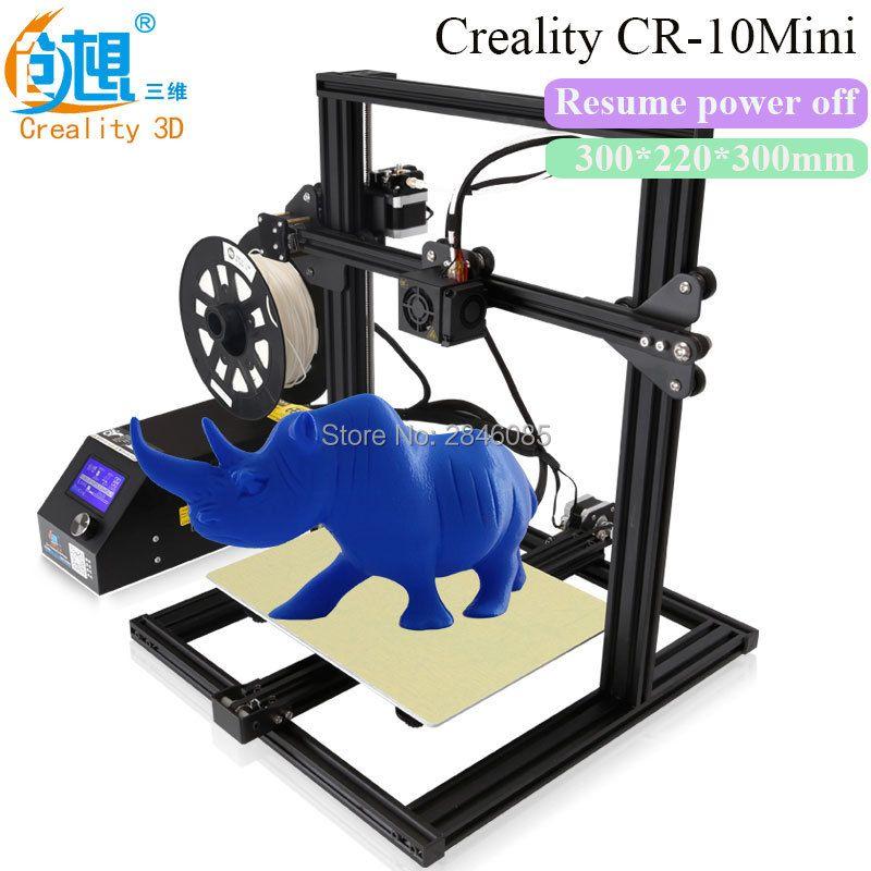 Creality 3D CR-10 Mini 3D Drucker Lebenslauf abschaltung Mit Aluminium Beheizte Bett High-precisio Freie Prüfung Filament + freies Werkzeug-set