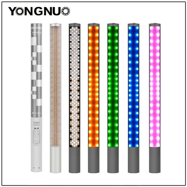 YONGNUO YN360 II ICE/Pixel Stick Combo,Handheld Bicolor LED Video Light Wand 3200k 5500k RGB Colorful Photo LED Stick