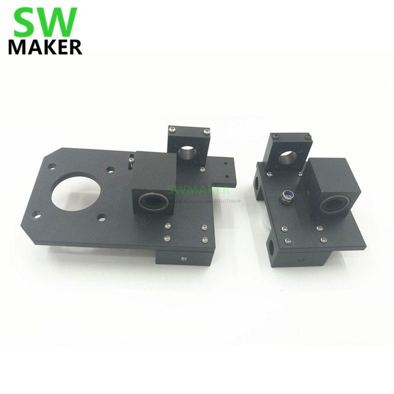 Prusa I3 3D printer metal aluminum alloy X axis X-ENDIDLER +X-ENDMOTOR kit/set Reprap rework adjustable for TR8 lead scr