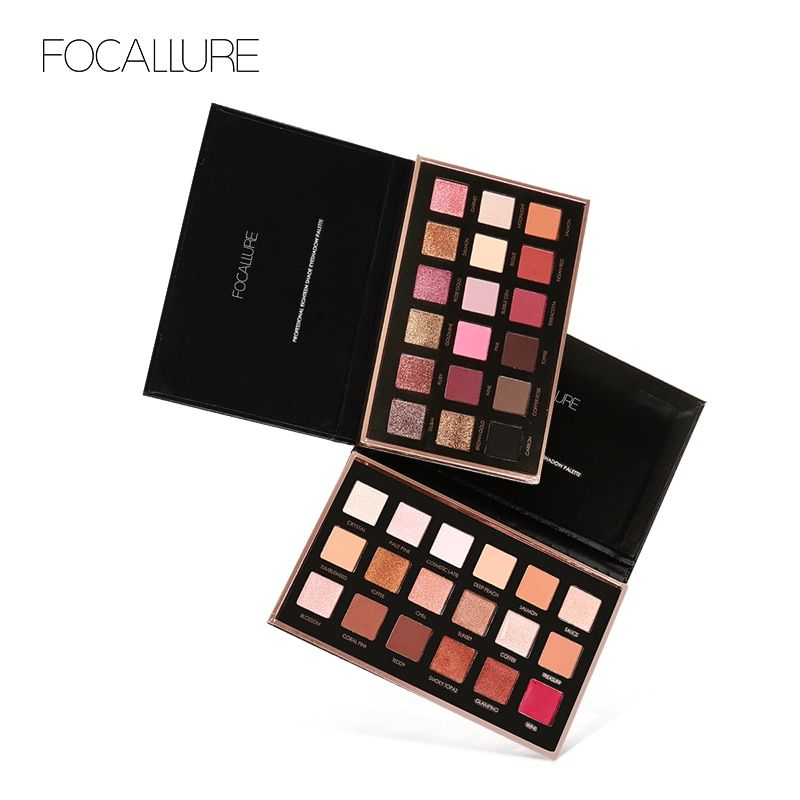 FOCALLURE 18 Colors Eyeshadow Palette Shimmer Matte Pigment Eye Shadow Cosmetics Mineral Matte Colors with Shimmer Glitter