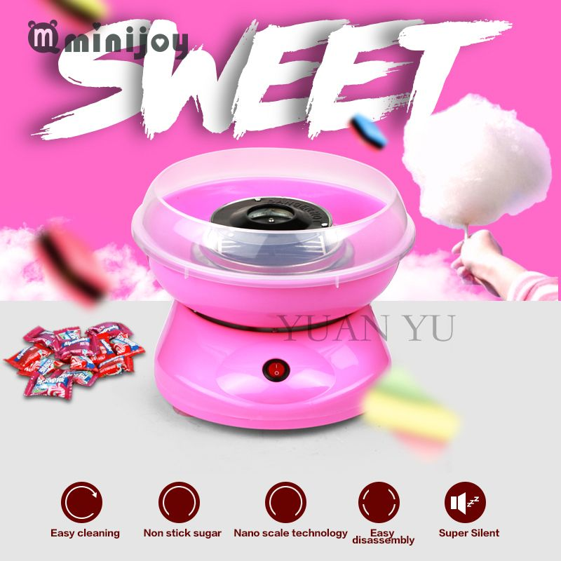 2017 Cotton Candy Maker Machine Electric DIY Sweet mini portable cotton suager for children girl boy gift children's day