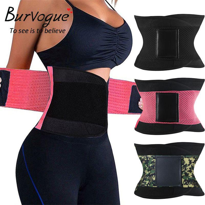 Burvogue Hot Shapers Women Body Shaper Slimming Shaper Belt Girdles Firm Control Waist Trainer Cincher <font><b>Plus</b></font> size S-3XL Shapewear
