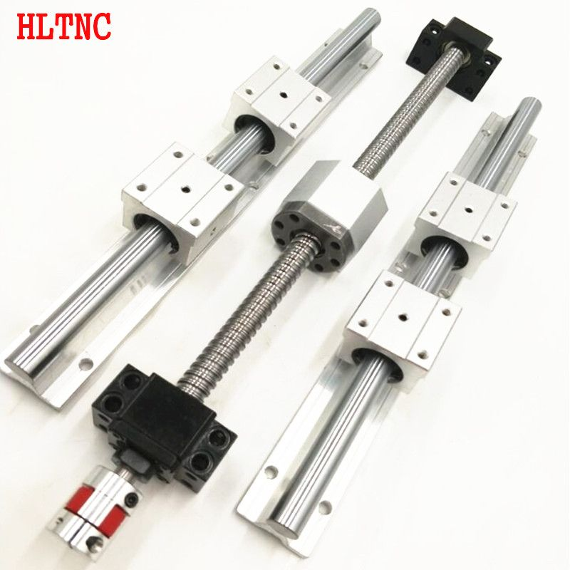 4 ballscrews RM1605-400/1000/1300/1300mm -C7+4BKBF12 +SBR20-400/1000/1300mm rails+12SBR20UU bearing blocks for  cnc  sets