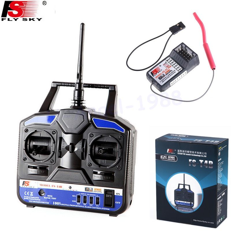 Flysky FS 2.4G 4CH FS-CT4B FS-T4B Remote control Radio RC Transmitter & Receiver for RC Helicopter Airplane