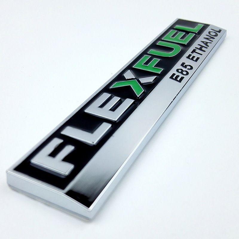 3D Metall FLEX KRAFTSTOFF Saubere Energie Auto Aufkleber E85 ETHANOL buchstaben Persönlichkeit Auto Körper Dekoration