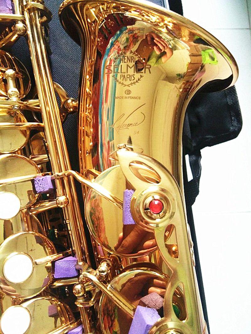 Hot sale Brand new Saxophone Alto instrument Selmer SAS-R54 Saxophone professional brand gold electrophoresis Free shipment