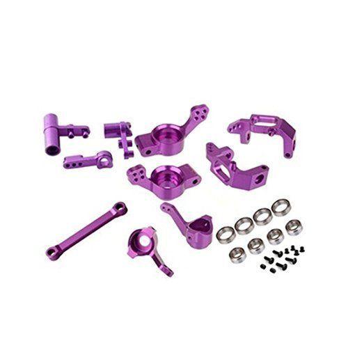 HSP 102010 102011 102012 102040 102057 02013 02014 02015 1/10 RC Car Upgrade Parts Aluminum Steering Hub Carrier Ball Bearings