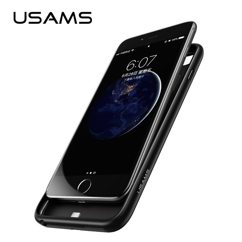 USAMS chargeur de batterie étui pour iphone 6 6 s 7 Plus 8x3000/4200 mAh housse de batterie portative Ultra mince Pack externe chargeur de secours
