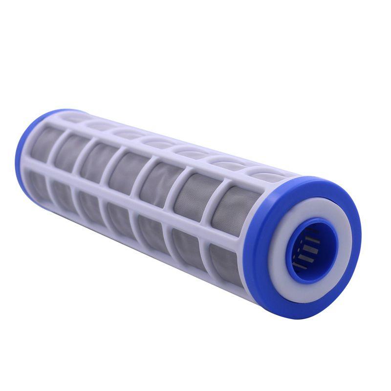 10 Edelstahlgewebe Filterpatrone 40 Micron Wasserfilter Vorfilter Können Füllen Polyphosphat für Skala prävention
