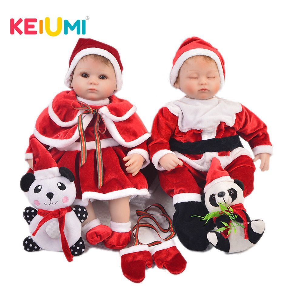 New 17'' Silicone Reborn Dolls For XMAS Gifts Real Like Princess or Prince Twins Doll Baby Reborn 43 cm Birthday Wedding Gifts