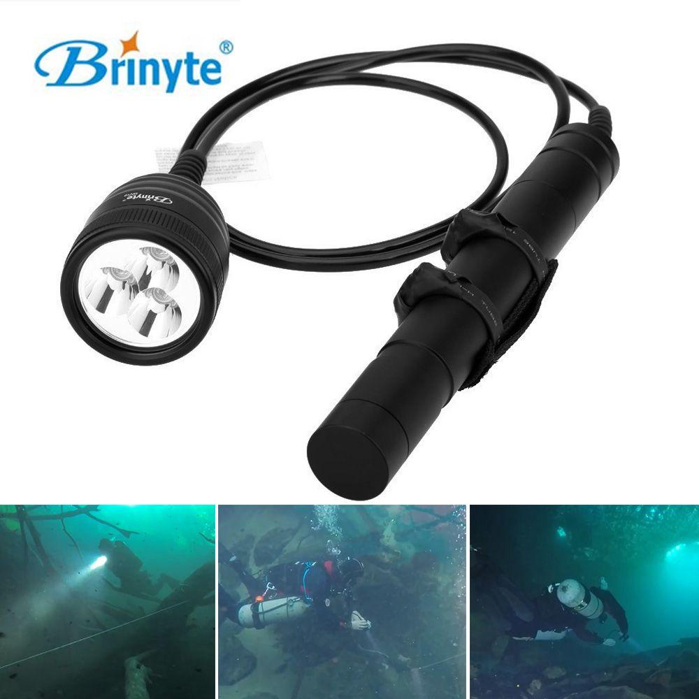 Brinyte XM-L2 Дайвинг фонарик 3000lm Водонепроницаемый Подводные 150 м магнитный переключатель Diver вспышка света Lanterna Лампы