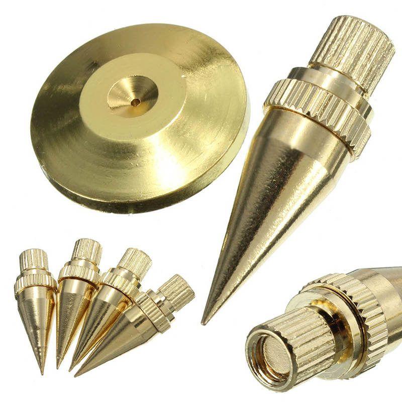 Mayitr 8 ensembles haut-parleur Spike doré cuivre Isolation cône support pieds + tampons de Base disques de sol pour M6 * 36 HiFi haut-parleurs haut-parleur cadre