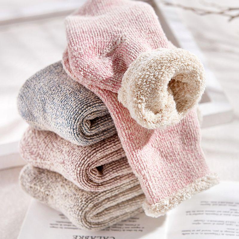Бесплатная доставка 2017 женские зимние хлопковые теплые носки теплые плотные зимние носки полотенце 2 пары