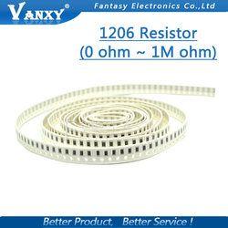 100 Pcs 1206 SMD resistor 0R ~ 10 M 1/2 W 0 1 10 100 150 220 330 ohm 1 K 2.2 K 10 K 100 K 0R 1R 10R 100R 150R 220R 330R