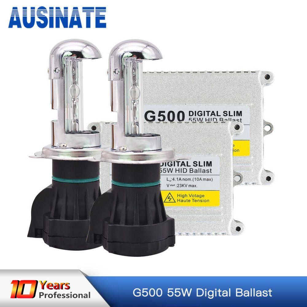 Xénon h4 bi xenon hid kit AC 12 v 55 w H4 lampe Bi-xénon Salut/lo faisceau ampoule HID ballast 4300 k 5000 k 6000 k 8000 k kit xénon h4 bixenon