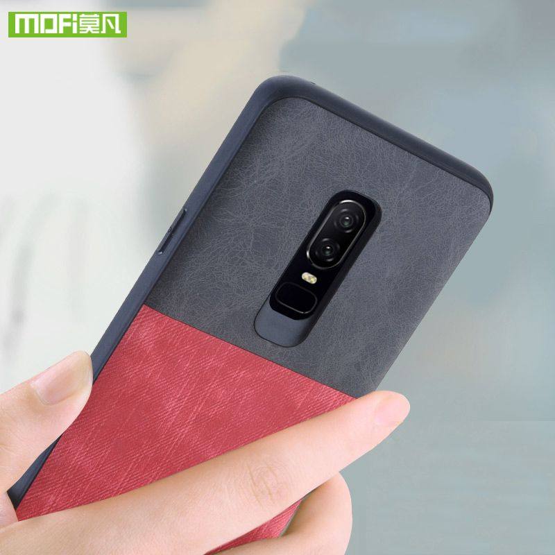 For oneplus 6 case for one plus 6 Case cover silicone original Mofi For oneplus 6 case shockproof jeans leather pop socket coque