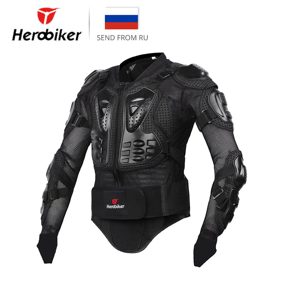 HEROBIKER Motorcycle Jacket Men Full Body Motorcycle Armor <font><b>Motocross</b></font> Racing Protective Gear Motorcycle Protection Size S-XXXL