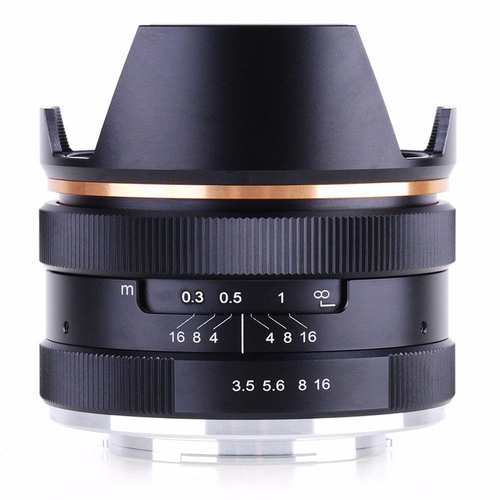14mm f/3.5 APS-C Manual Focus Prime Fixed Lens for Sony E-Mount NEX3 3N 5 5T 5R camera KAXINDA
