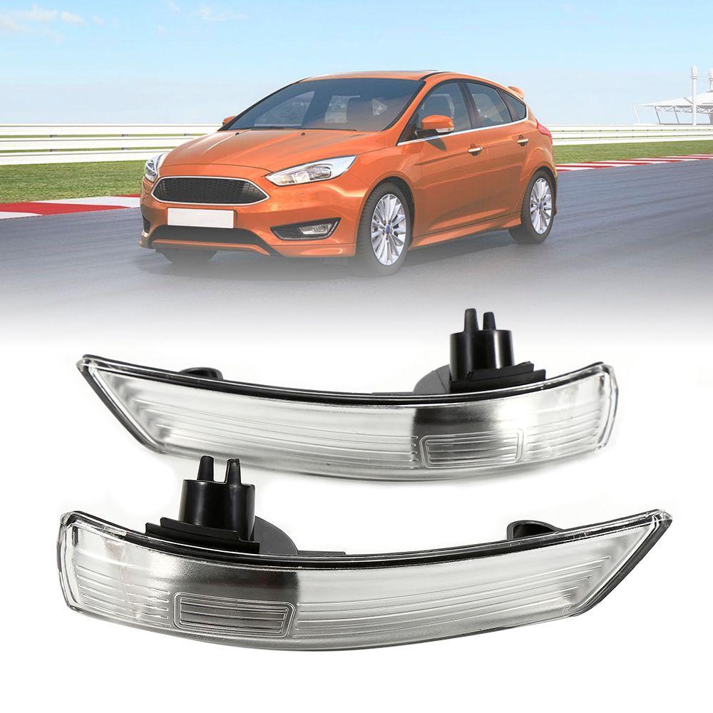 1 paire de clignotant latéral gauche et droit indicateur de rétroviseur arrière lampe tournante pour Ford Focus 2008-2014 lumière de miroir de secours