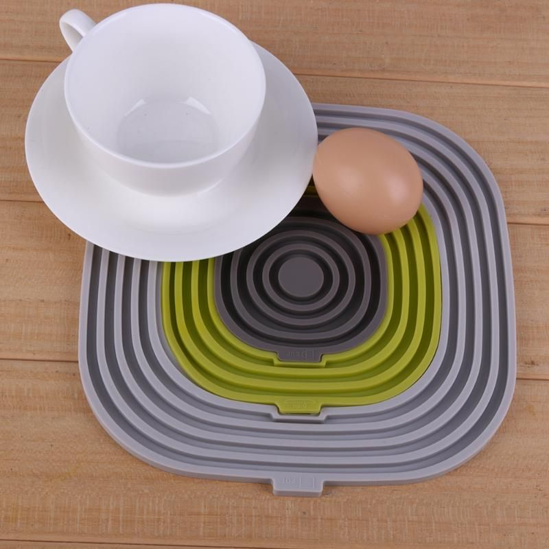3pcs Set High Temperature Insulated Mat Pad Mats Silicone Cushion Placemat Pad Coasters Oven Pad Microwave Table Mat