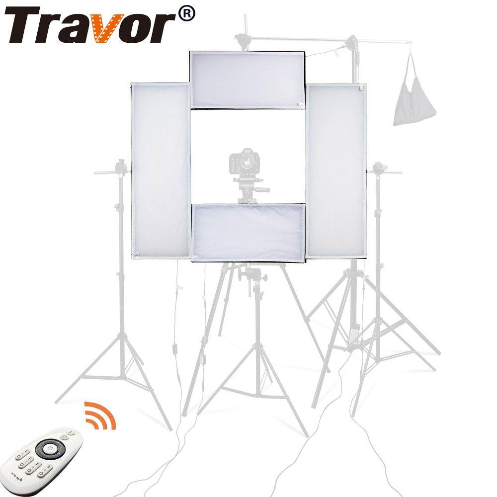 Travor 4 in 1 Headshot LED studio licht 100 W 5500 karat CRI95 video licht mit 2,4g Wireless Remote control fotografie beleuchtung