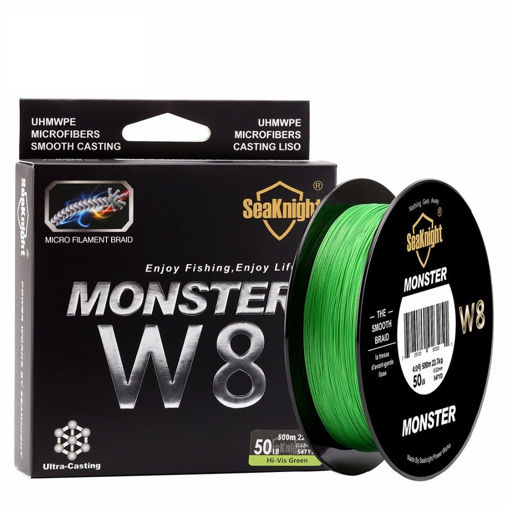<font><b>Monster</b></font> 500M / 546YDS <font><b>MONSTER</b></font> W8 Braided Fishing Lines 8 Weaves Wire Smooth PE Multifilament Line for Sea Fishing 20-100LB