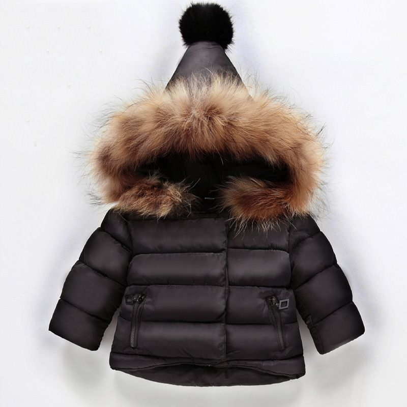 Winter Fashion <font><b>Thicken</b></font> Cotton Warm Child Coat Windproof Baby Boys Girls Jackets Children Outerwear For 1-6 Years Old