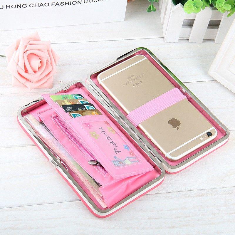 2019 Women Wallets Purses Wallet Brand Credit Card Holder Clutch Coin Purse Cellphone Pocket Gifts For Women Money Bag B156