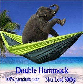 Portable Nylon Parachute Double Hamac Jardin Camping En Plein Air Voyage Meubles Survie Hamac de Couchage Swing Lit Pour 2 Personne