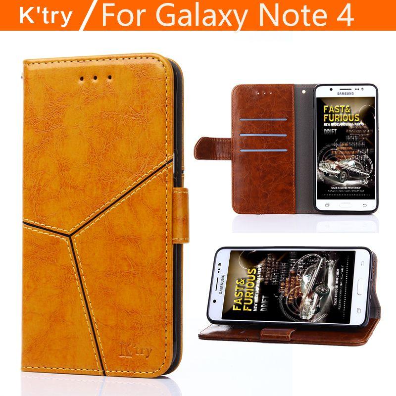 Für Fundas Samsung Galaxy note 4 Fall Ursprüngliche Luxus Leder fall Für Coque samsung-anmerkung 4 Magnetic Schlag-mappen-standplatz-fall-tpu-abdeckung abdeckung